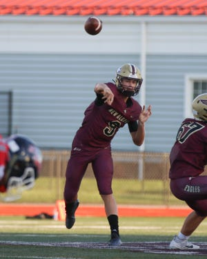 Brock Tibbitts and New Albany open the Division I, Region 3 playoffs Friday, Oct. 9, at Westerville North.