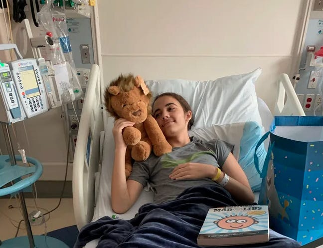 Noah McCampbell is pictured at Penn State Hershey Children's Hospital on Sept. 27. The 14-year-old was recently diagnosed with  B cell acute lymphoblastic leukemia. SUMBITTED PHOTO