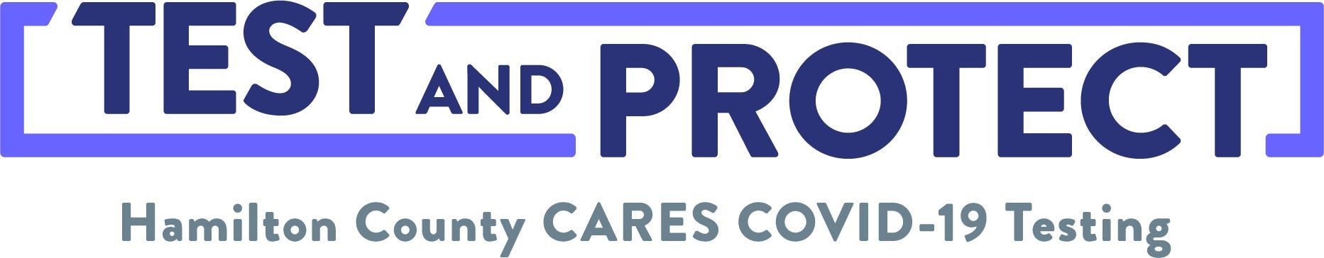 TEST and PROTECT Hamilton County CARES Testing Logo