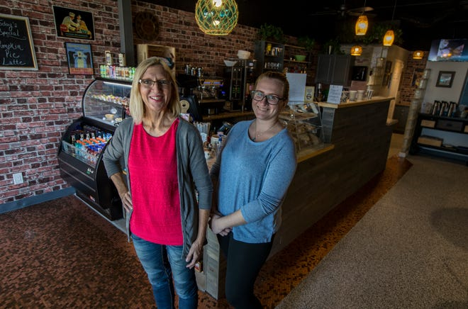 Sherri Peterson and her daughter, Amber, run the newly established Penny's Coffee Bar in downtown Cape Coral.