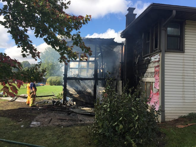 A fire Monday afternoon at 3251 Myers Road in Shelby caused extensive damage.