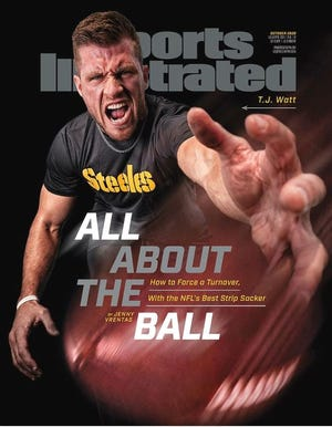 T.J. Watt on the cover of the Oct. 2020 Sports Illustrated