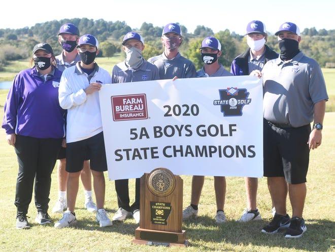 The El Dorado Wildcats won the Class 5A Boys' State golf championship on Monday at Big Creek.