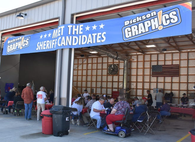 Meet the Sheriff Candidates event at the Dickson County Fire and Rescue station on Saturday afternoon.