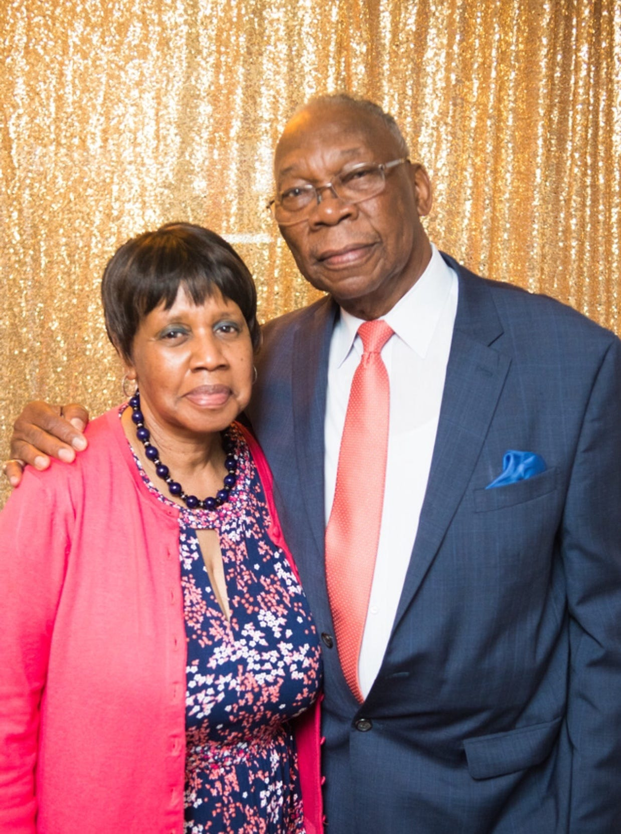 Shaylah Brown's grandparents at her grandfather's 80th birthday celebration.
