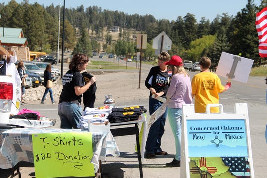 Concerned Citizens for New Mexico was at the Freedom NM Rally.   The Freedom NM Rally in Cloudcroft was on October 3, 2020.