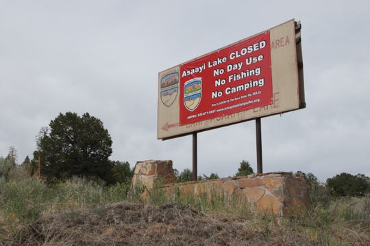 A notice pictured on June 26, 2020 warns visitors that Bowl Canyon and Camp Assayi near Crystal are closed. The Navajo Parks and Recreation Department recently announced that the area will remain closed to 2021.