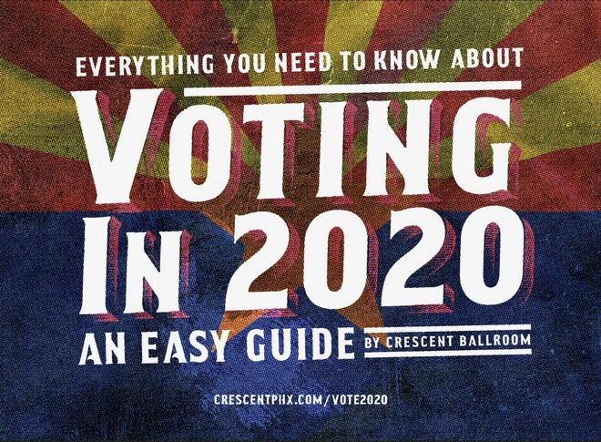 """""""Everything You Need to Know About Voting in 2020: An Easy Guide by Crescent Ballroom."""""""