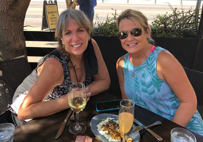 On Sundays, after tap dance class, we brunch. Grateful for Rhonda in my bubble, cooler temperatures for outside dining and wine.