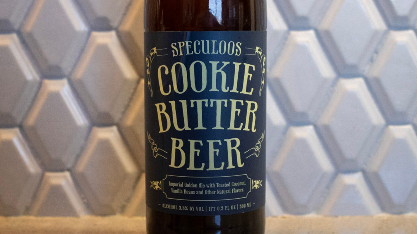 We tried Trader Joe's new Speculoos Cookie Butter Beer. Here's what it really tastes like