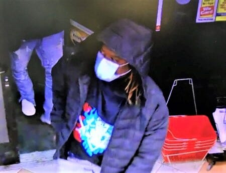 Redding police are searching for the person in this photo in connection to a string of AMPM robberies in Redding on Sunday.