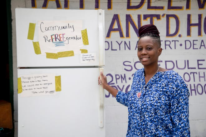 "Tonya Williams started the ""reFREEgerator"" to help with hunger by providing free food to those who need it."