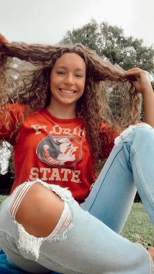 Port St. Lucie standout swimmer Sarah Evans committed to Florida State on Wednesday, Sep. 30, 2020.