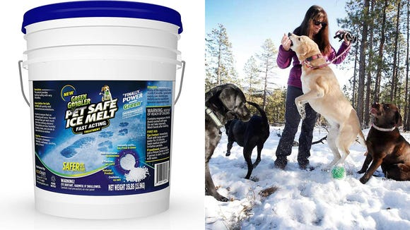 Melt the ice without hurting your pups.