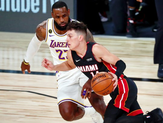 Tyler Herro scored 17 points to help the Heat cut LeBron James and the Lakers' lead to 2-1 in the NBA Finals.