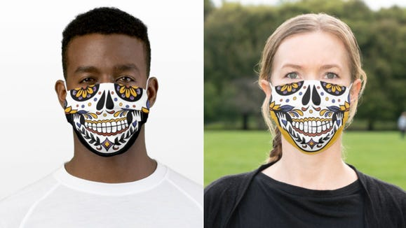Celebrate Day of the Dead with these festive face masks.
