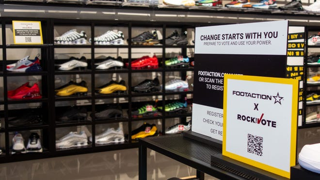 An image of the inside of a Foot Locker store.