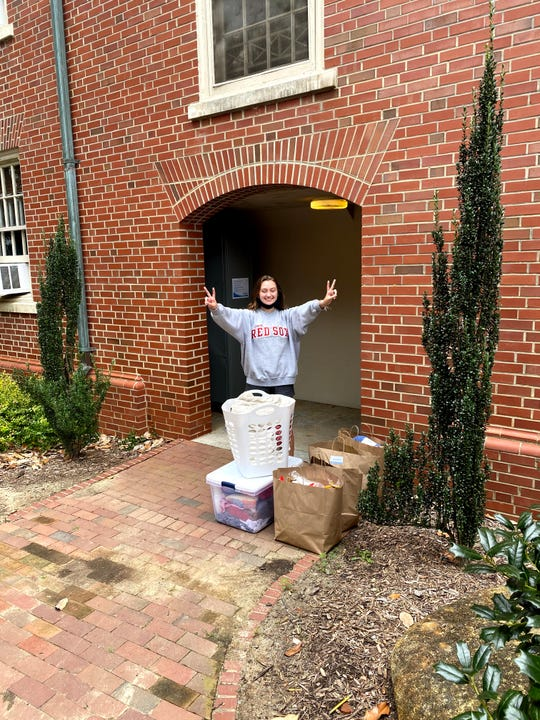 Brianna Hayes after leaving the isolation dorm in Chapel Hill, North Carolina, in August 2020.