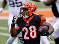 Bengals running back Joe Mixon was questionable with a chest injury coming into Week 4, but he rushed for 151 yards and two touchdowns, and caught six passes for 30 yards and a score.