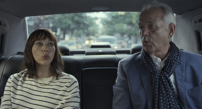 """Rashida Jones, left, is a daughter struggling with the blahs in life when her father, Bill Murray, arrives to rescue her in a rather unconventional way in """"On the Rocks,"""" directed by Sofia Coppola."""