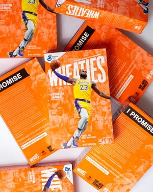 LeBron James and students and staff from the I Promise School in Akron will be on the latest Wheaties box.