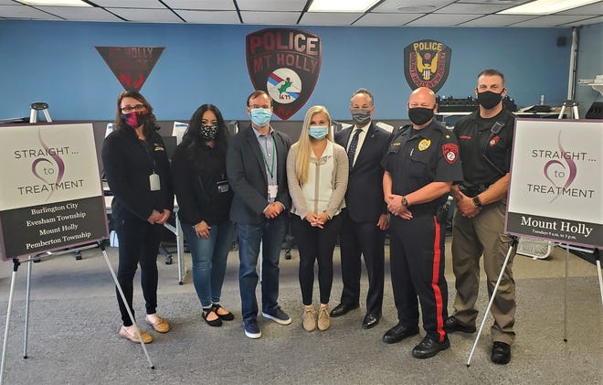 Burlington County Prosecutor Scott Coffina (third from right) announced the expansion of his office's Straight...to Treatment program on Tuesday, Oct. 6.