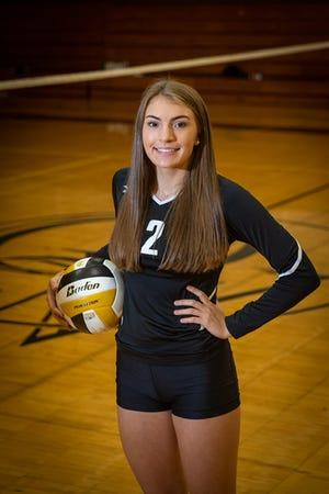 Quaker Valley senior volleyball player Kayla Doherty