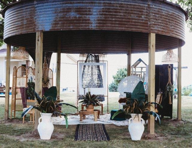 Zhoosh, which specializes in home decor, accessories, furniture and vintage items, first came about from the two owner's love of interior design and decorating.