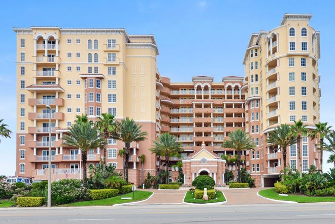 Bella Vista in Daytona Beach Shores offers its residents covered, gated guest parking, a two-story lobby, an oceanfront fitness studio and clubroom, a swimming pool, two fire pits and a hot tub.