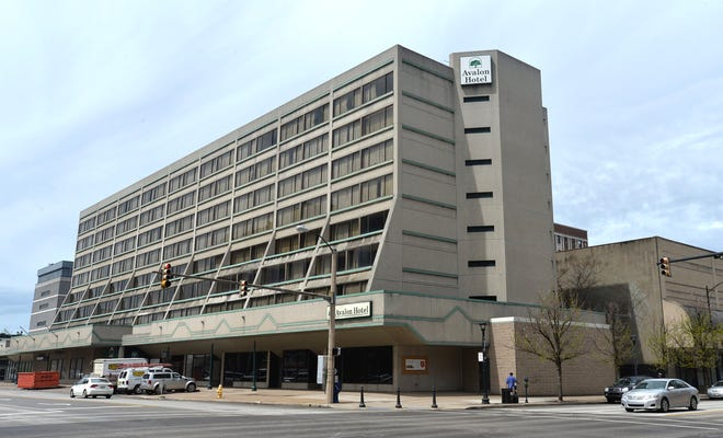 The Avalon Hotel in downtown Erie is shown in this April 2017 file photo. A plan for a $16 million renovation of the eight-story 193-room hotel has stalled for lack of financing. Likewise, the rebranding of the building at 16 W. 10th Street to the Doubletree or some other brand remains more wish than a plan.