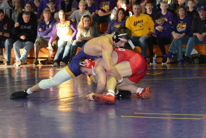 Mediapolis High School graduate, a national champion for the University of Northern Iowa, will compete in the U.S. Senior Nationals this week in Iowa City.
