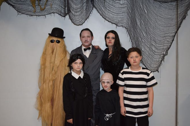 These Addams family costumes are from a previous Oak Ridge Halloween Party at the Oak Ridge Civic Center. This year it will be a drive through experience.
