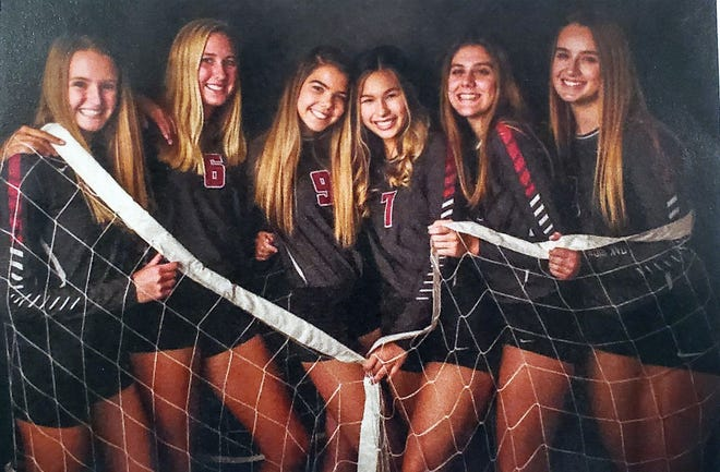 Oak Ridge High School volleyball 2020 seniors are Brenna Allred, Ainsley Patrick, Marybeth Luby, Lynley Baldwin, Paige Halcrow and Hailey Beck. Special to The Oak Ridger