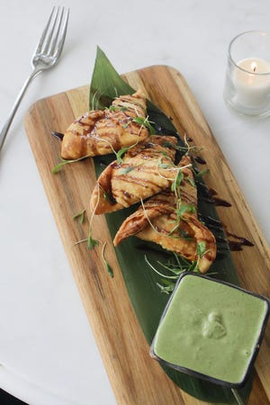 Other autumn-inspired dishes at Buccan include sweet-potato samosas with tamarind-and-mint chutney.