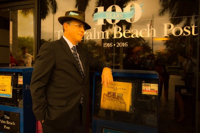 Eliot Kleinberg, shown here in 2016, says Florida got a bum rap for its election foibles in 2000. Kleinberg, a longtime Palm Beach Post reporter and Florida historian, has worked at the paper for 33 years.