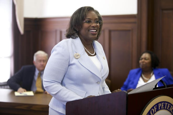Petersburg City Manager Aretha R. Ferrell-Benavides is shown in this photo from 2017 when she was introduced as the city's top administrator.