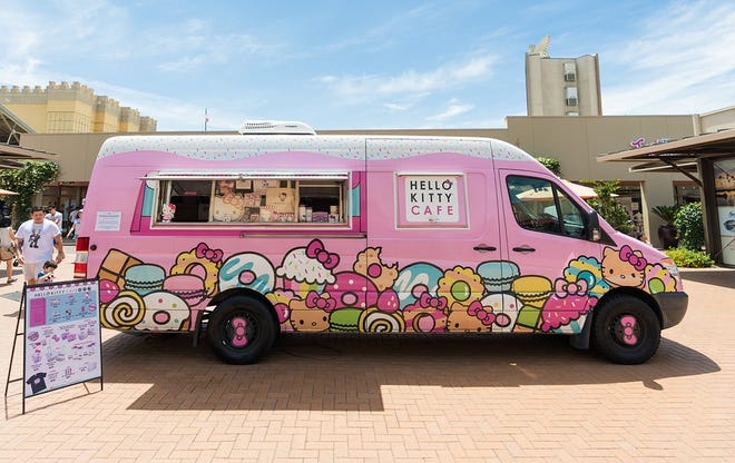 The Hello Kitty Cafe Truck will be parked at Weberstown Mall on PacificAvenue from 10 a.m. to 7 p.m. Saturday near Blaze Pizza, where Sanrio fans will be able to purchase sweet treats and limited-edition collectibles.