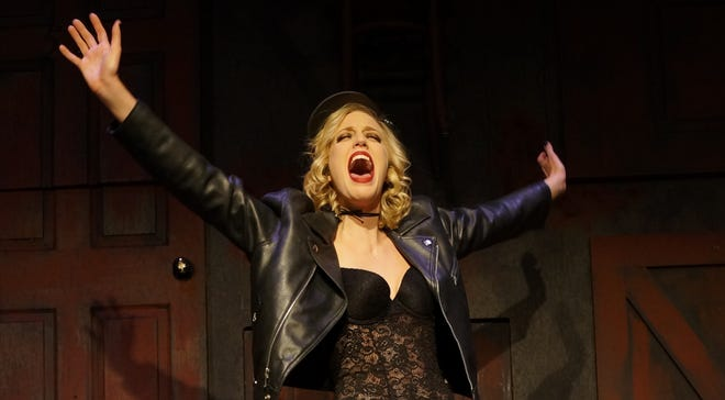 "Sarah Marie Young as Sally Bowles in the Players Guild production on ""Cabaret."""