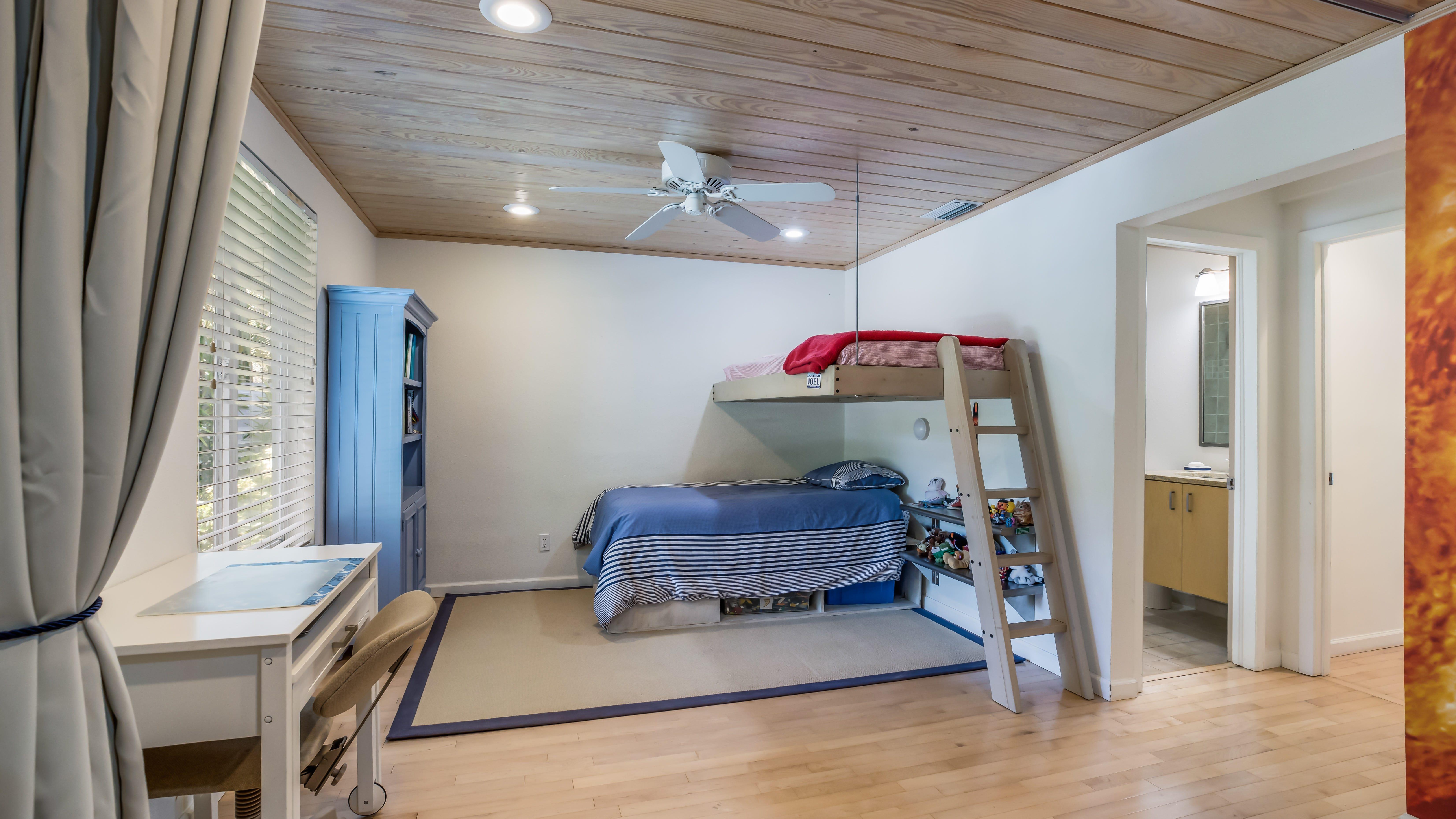 The children's bedroom of the vintage home on Old Oak in Sarasota