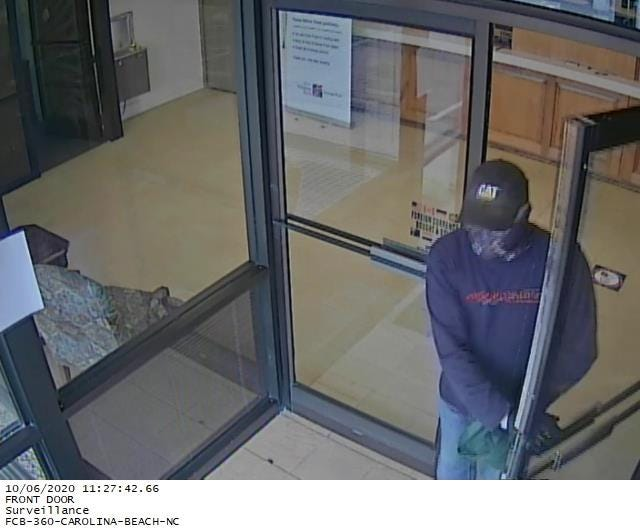 Suspect leaving First Citizen's Bank