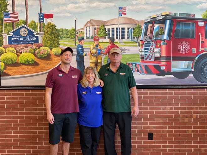 The Firehouse Subs, located at 3572 Leland Town Center Road in Leland, opened Sept. 30, 2020. Pictured from left are, Chris Tabor, Jan Tabor, and Louis Tabor.