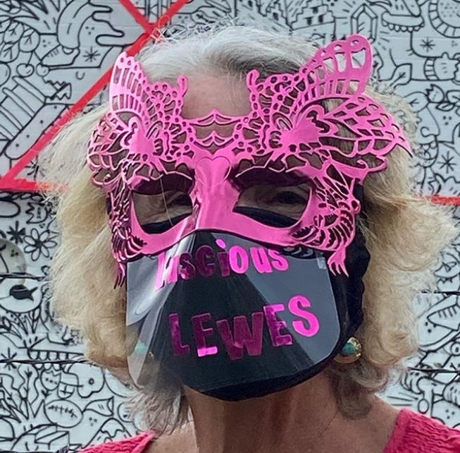 The Lewes Chamber of Commerce announced M.E. Edge is September's winner of the Lewes Loves Masks photo contest.