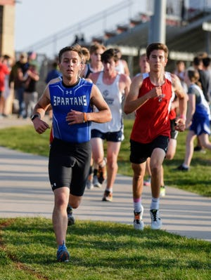 Kyle Vanderwal broke 18 minutes for the first time in a 5-kilometer race this season for the Collins-Maxwell boys' cross country team at the North Polk Invitational Monday in Alleman. Vanderwal took 11th in 17:59.