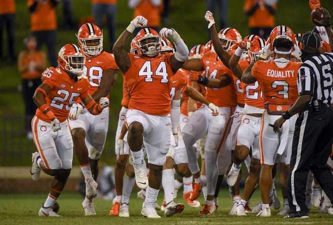 Clemson defensive tackle Nyles Pinckney (44) and the Tigers' pass rushers can make tonight's game tough on Miami.