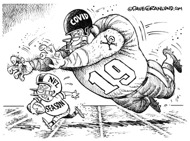 Wednesday Cartoon: NFL season in doubt. By Dave Granlund.