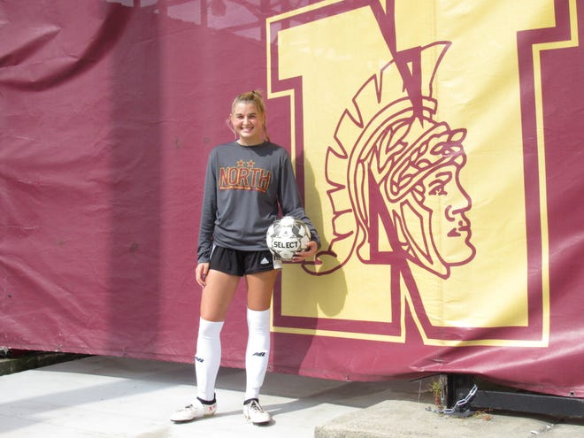Isa Mercurio shows her prowess as a defensive midfielderfor the North girls soccer program and in the classroom, as the senior has a 5.1 weighted GPA. Ohio State, Michigan, Michigan State and Vanderbilt are among the colleges she's considering.