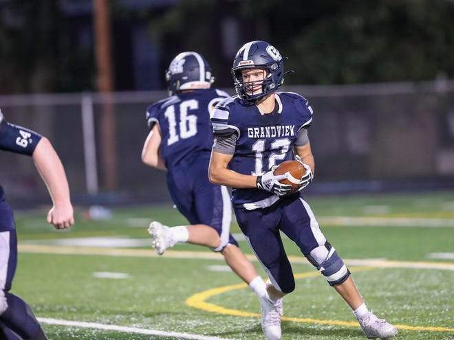Grandview Heights' Tristin Pierce carries the ball against Whitehall earlier this season. The Bobcats open the postseason Oct. 10 at Coal Grove Dawson-Bryant.