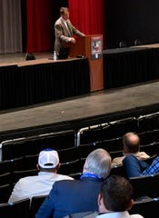 Robert Duncan gave the keynote address Tuesday morning. The 98th annual County Judges and Commissioners Association of Texas Conference goes through Thursday.