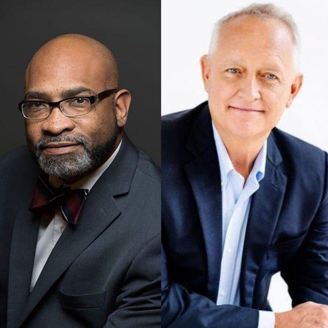 Hamilton County prosecutor candidates Fanon Rucker, left, and Joe Deters, right.