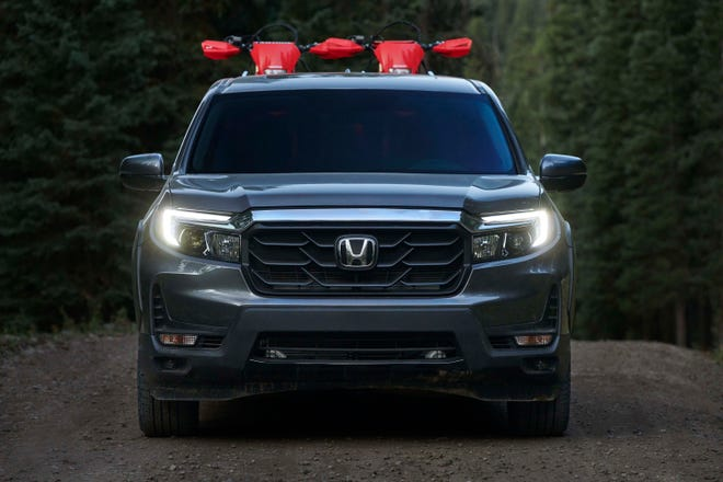 The 2021 Honda Ridgeline gets a more aggressive face.
